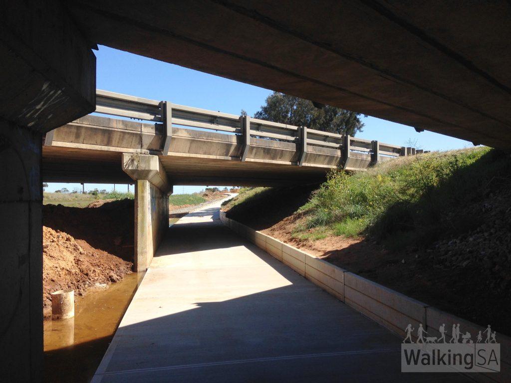 Underpass beneath Port Wakefield Road