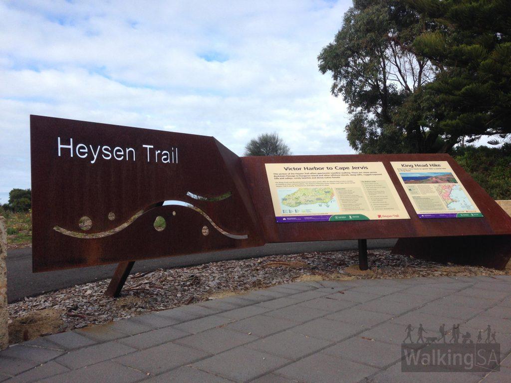 Heysen Trail trailhead at Muwerange - Kent Reserve, Victor Harbor