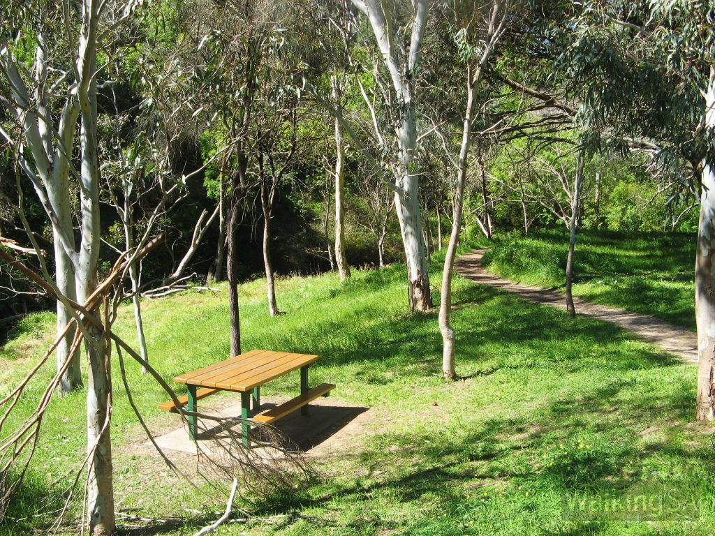 Picnic tables in Brownhill Recreation Park