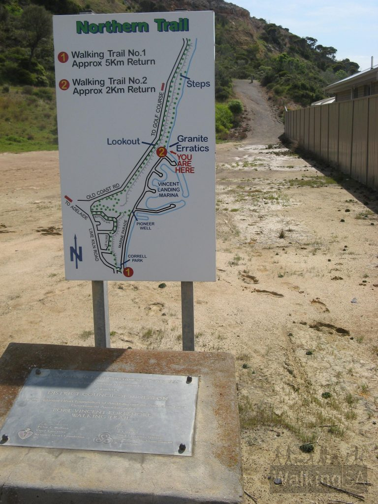 Trailhead on Marina Drive (near house #55)