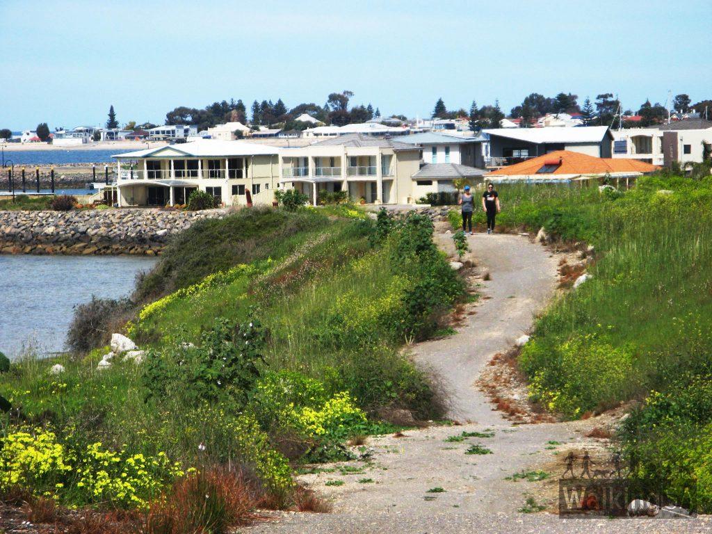Walking near the marina
