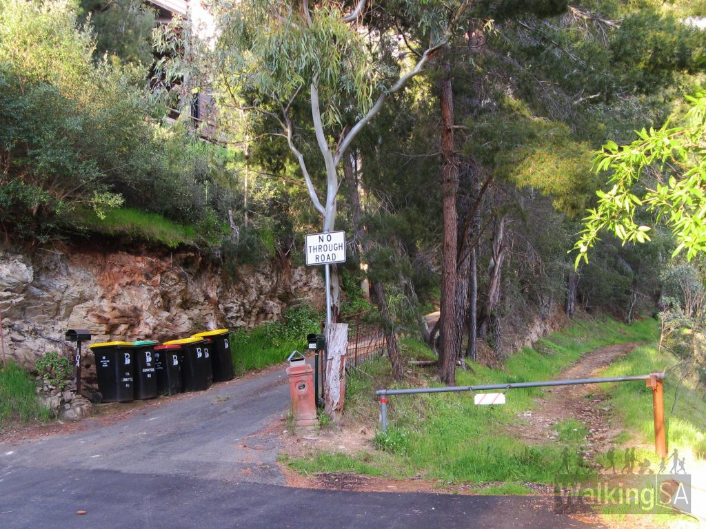 Take the right trail, along Gill Terrace