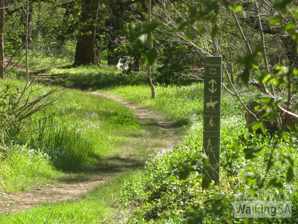 Wirraparinga Trail through Brownhill Creek Recreation Park
