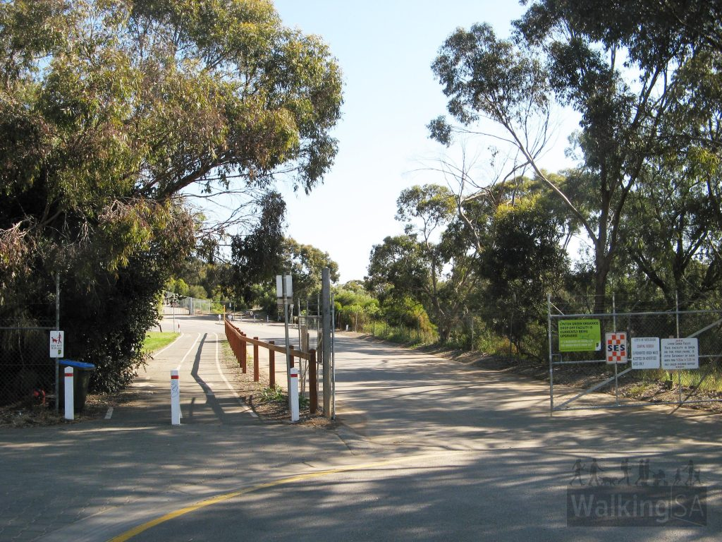 Entrance to Lynton Reserve at the end of Beagle Terrace, near Lynton Train Station