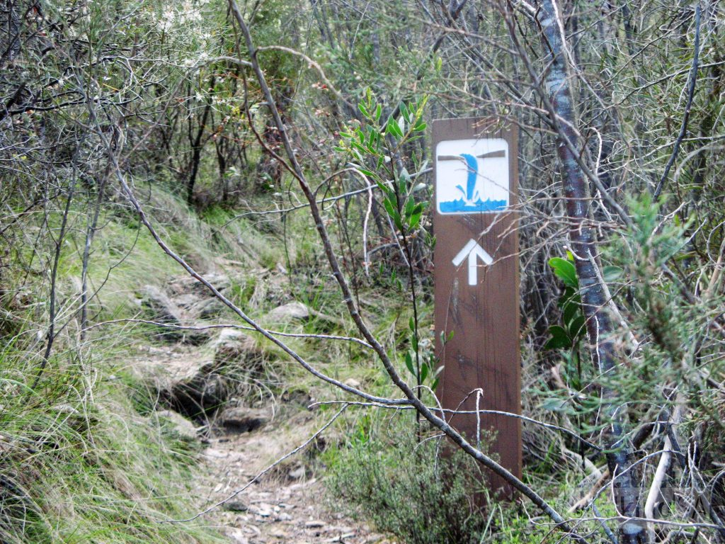 Waterfall Trail signage