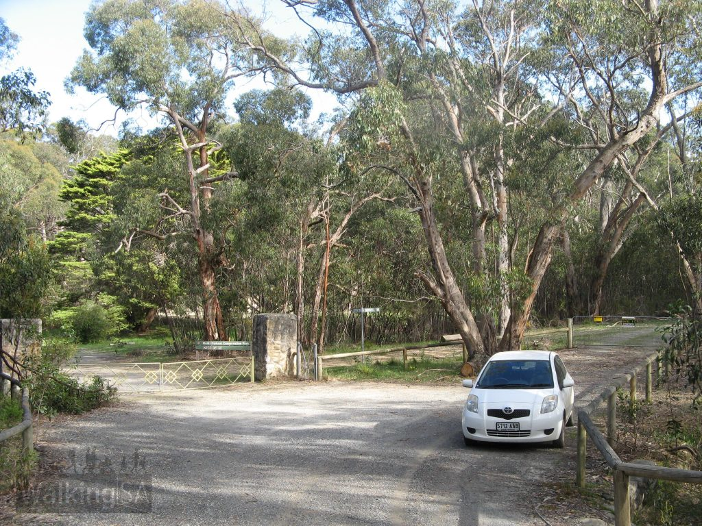 Carpark and entrance to Mark Oliphant Conservation Park
