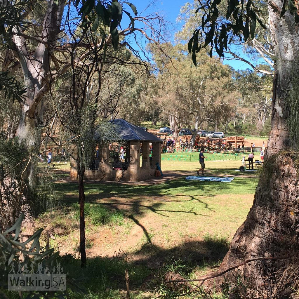 The Fourth Creek Walk starts from Stradbroke Road, adjacent to the new Morialta Playground