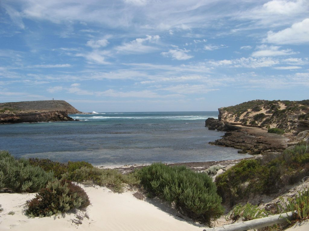 Views of West Cape from Pondalowie Bay, Walk the Yorke trail, Innes National Park