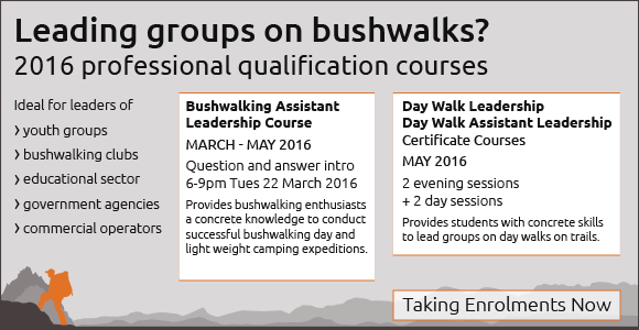 Bushwalking Assistant Leadership Course Taking Enrolments - 580px x 350px