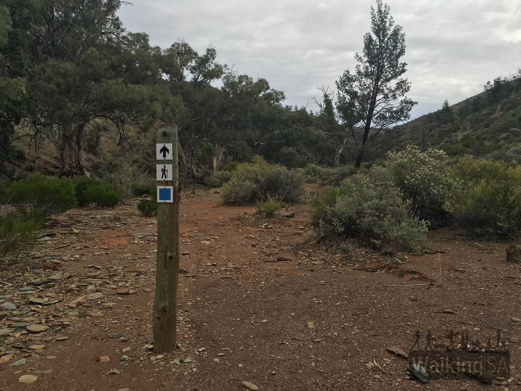 Signpost markers on hike through Hidden Valley