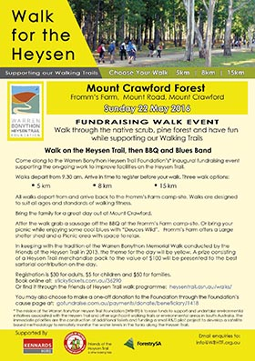 Walk for the Heysen, Mt Crawford Forest, Sunday 22 May 2016