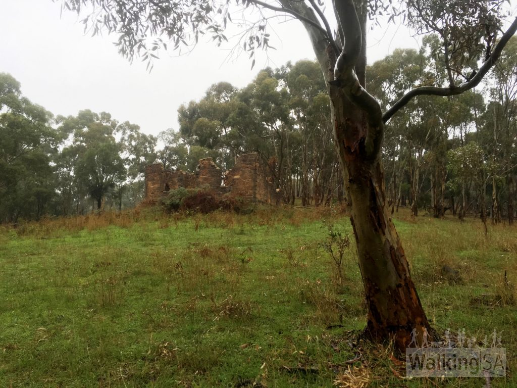 Ruins on the hike in Montacute Conservation Park