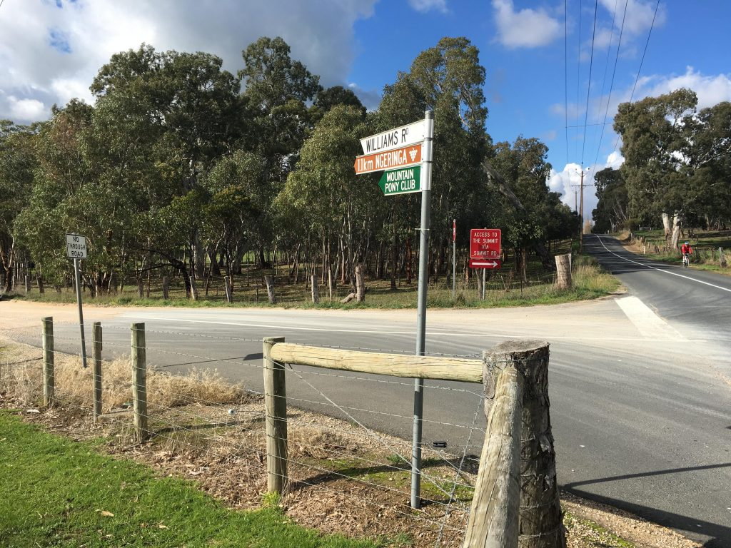 Driving to this walk, turn left up Williams Road, ignoring the No Access To The Summit Sign