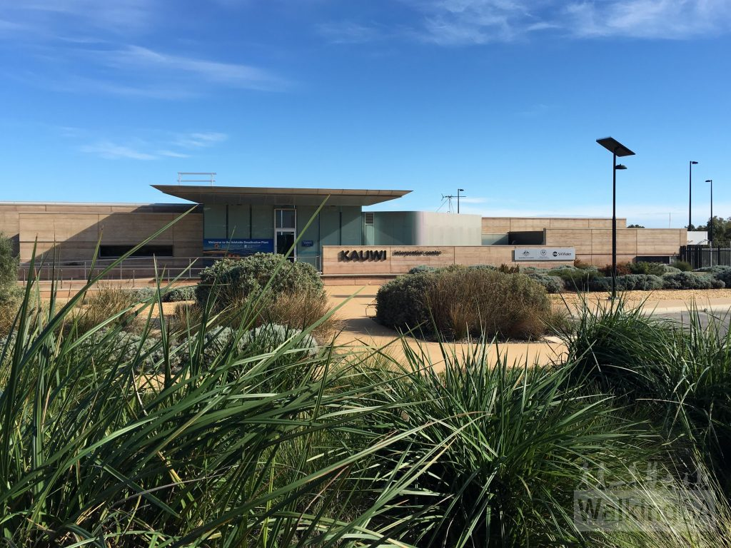 The Kauwi Interpretive Centre on Chrysler Road, at the Adelaide Desalination Plant. The centre is open to group bookings and includes a tour of the desalination plant.