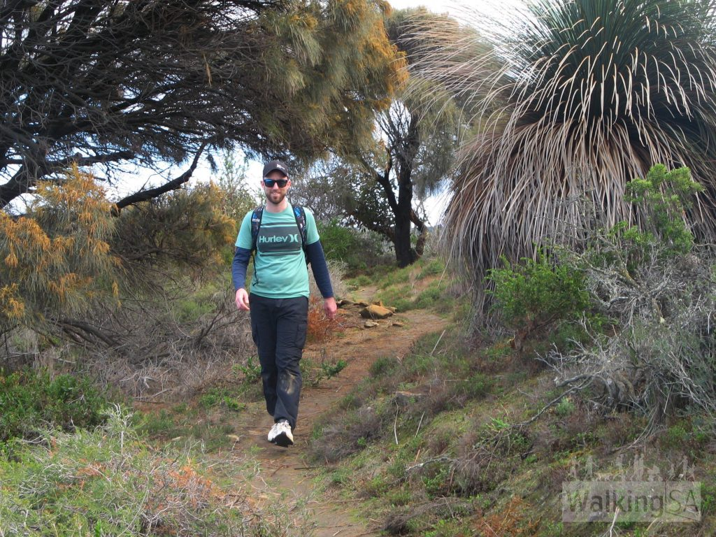 Trail walking on the Boat Harbor Circuit Hike