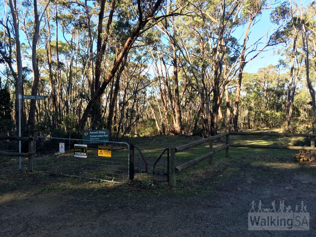 Gate 2, Wottons Scrub. Carpark is here, on Gum Flat Road.