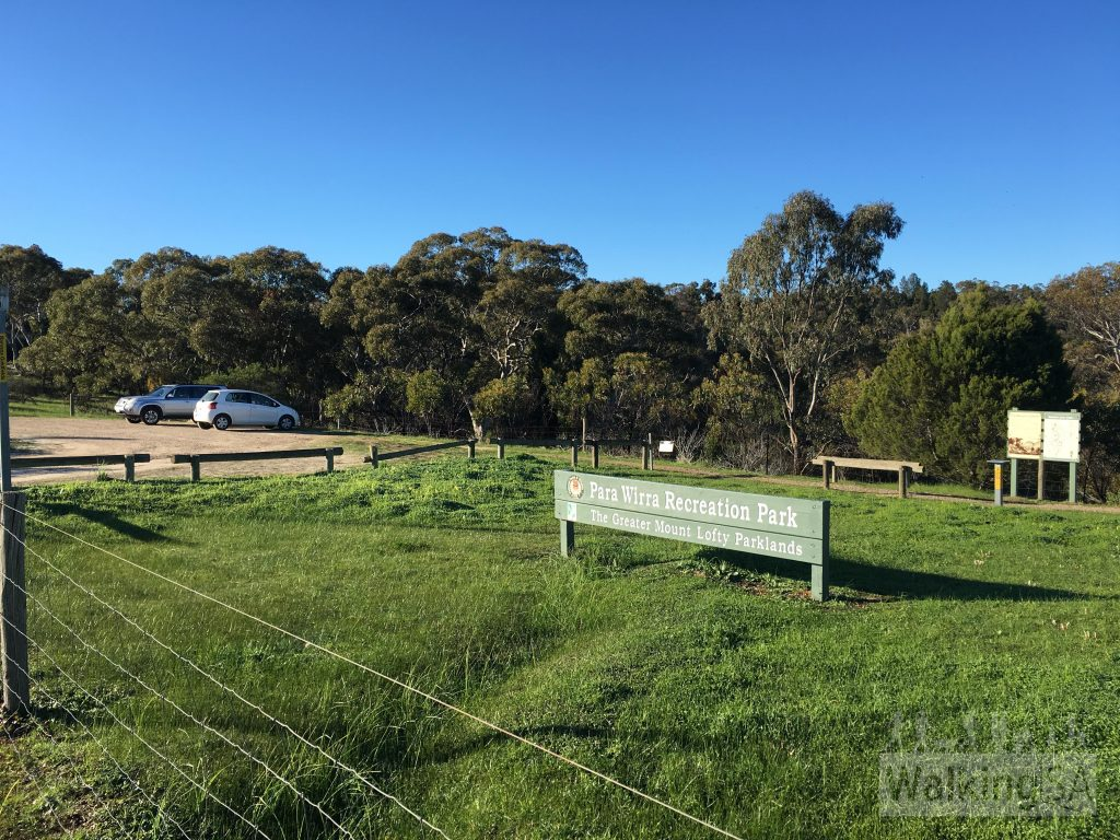 Trailhead and carpark on Allendale Road