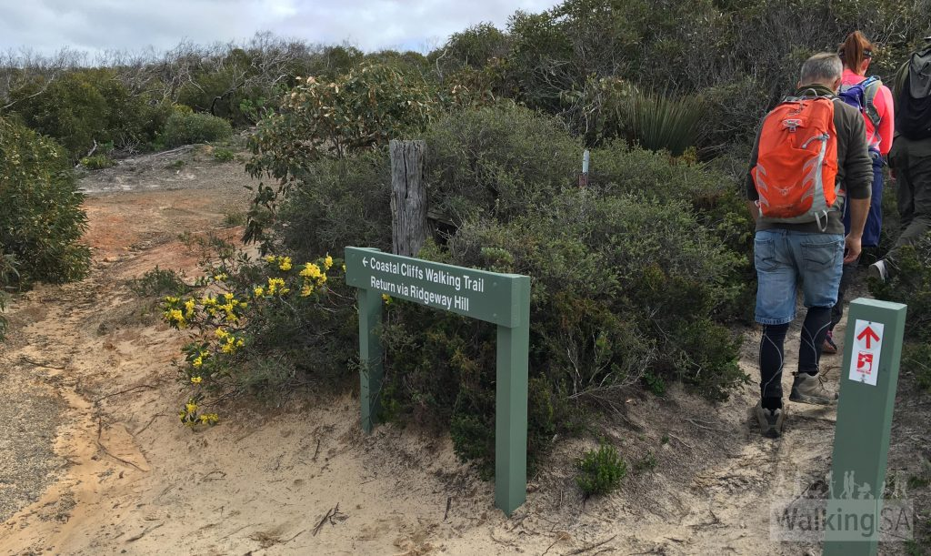 The Heysen Trail continues to the cliff lookout and Kings Beach