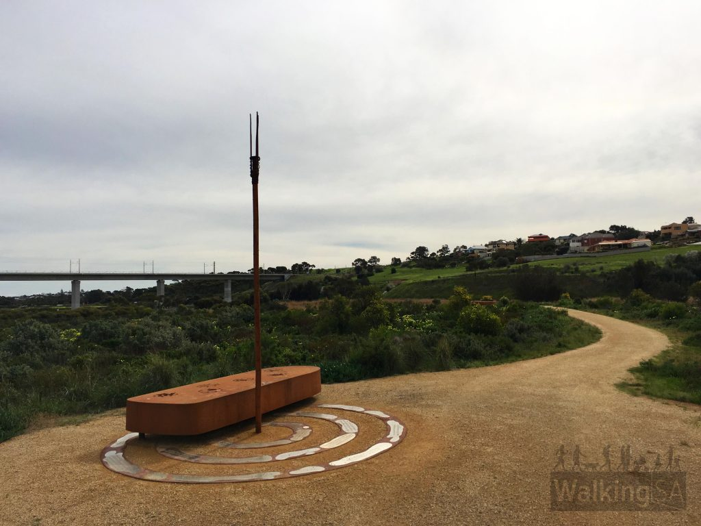 There are two interpretive signs like this one on the Noarlunga Downs Wetland Trail