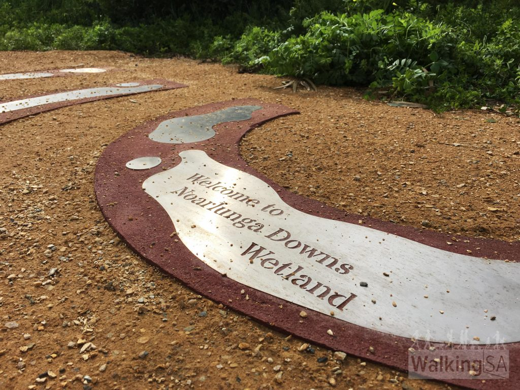 Trailhead signage on the Noarlunga Downs Wetland Trail