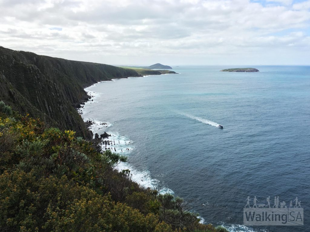 Views from the cliffs lookout, on the Heysen Trail between Waitpinga and Kings Beach