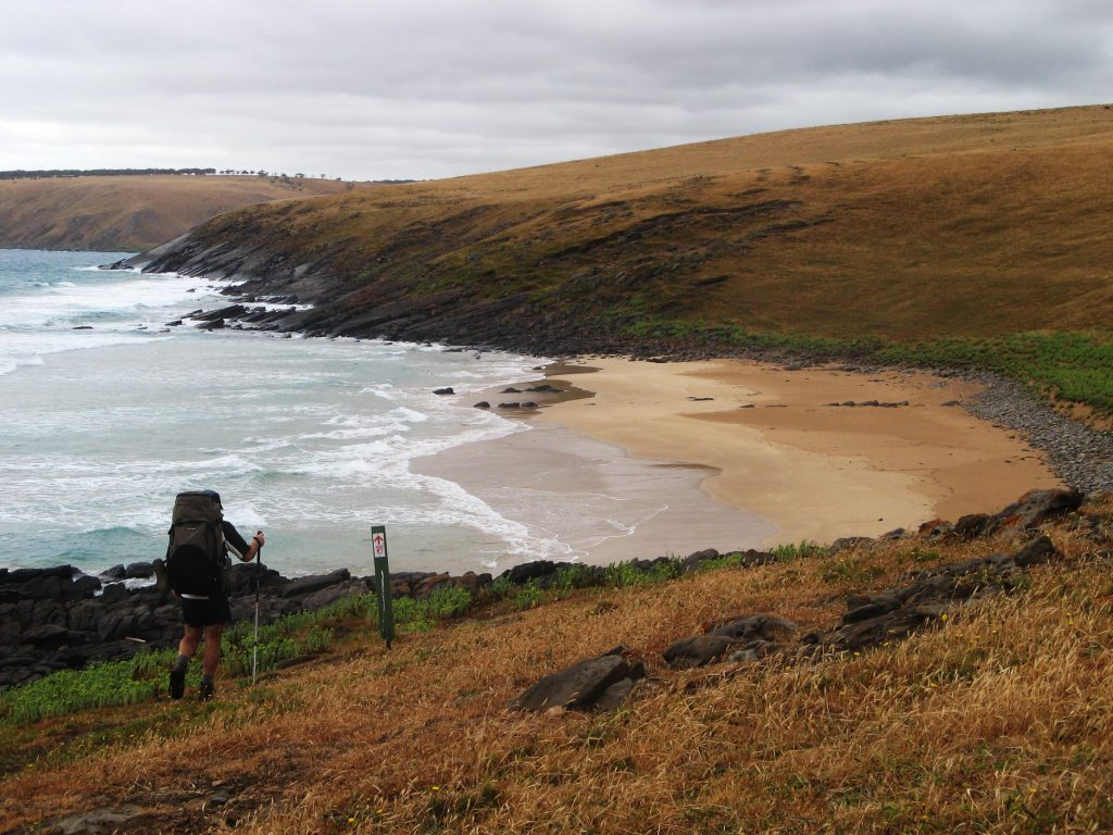 Hiking along the remote beaches of the South Coast Heysen Trail
