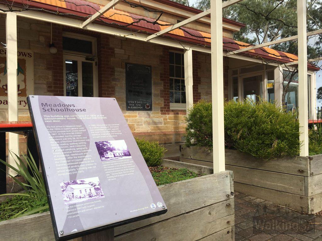 The Meadows Schoolhouse, now a bakery