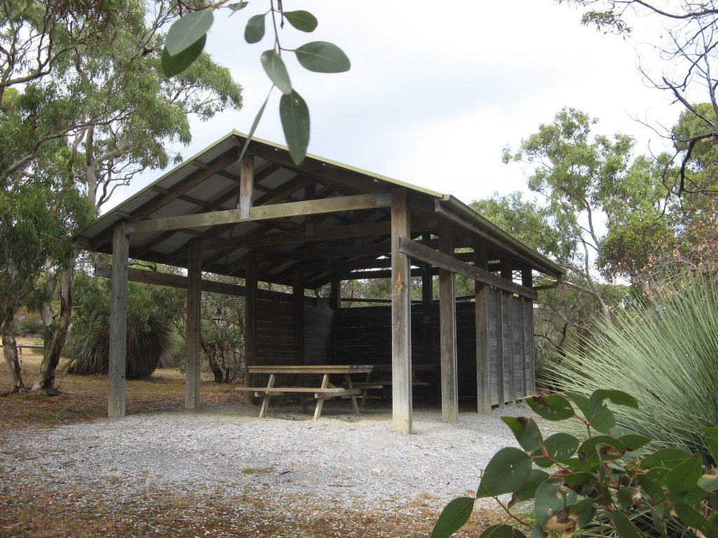 Picnic shelter at Trig Picnic Area, Deep Creek Conservation Park