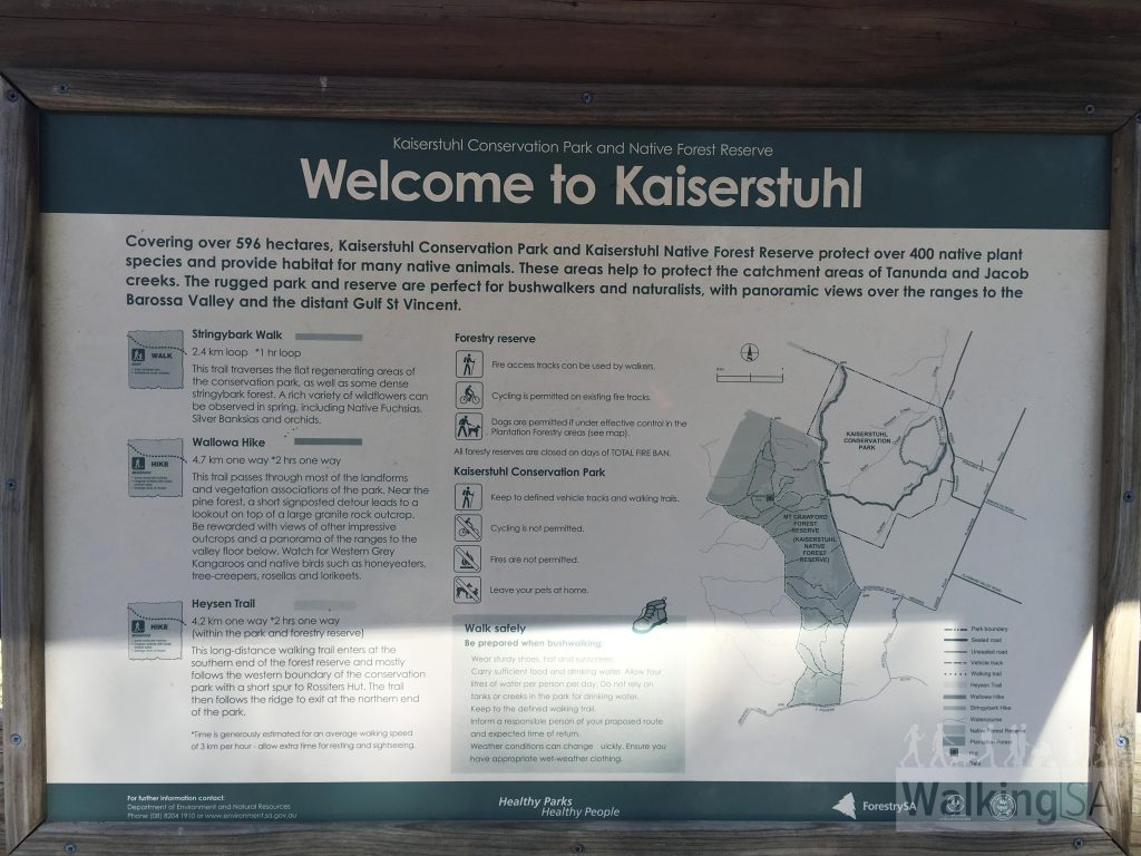 Trails information signage in Kaiserstuhl Conservation Park