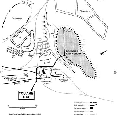 Richmans Walk Map, Moonta Mines Walking Trails