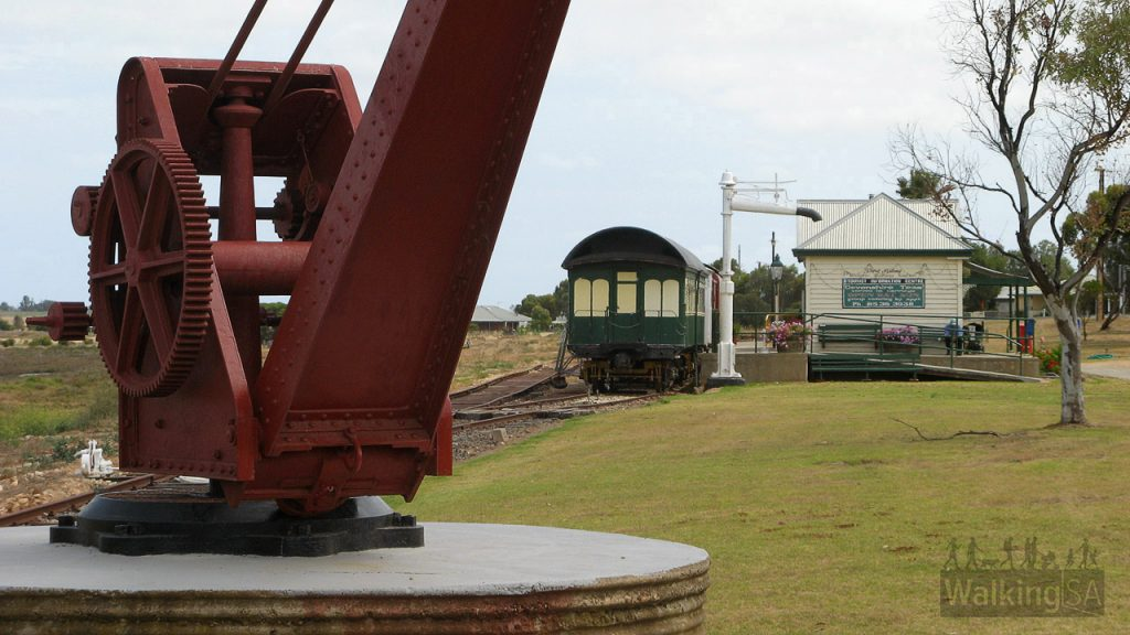 Old crane at Port Milang Historic Railway Museum