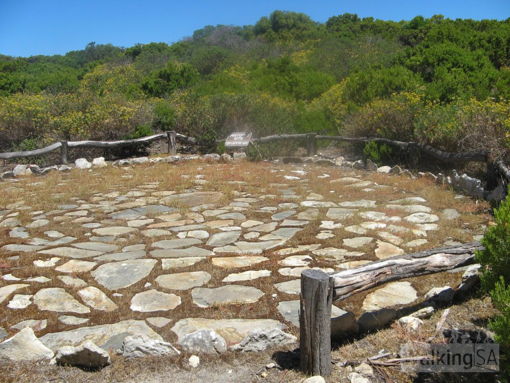 An old preserved threshing floor on the Tadpole Cove Walk in Cape Gantheaume Conservation Park