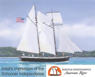Artists impression of the Schooner Independence