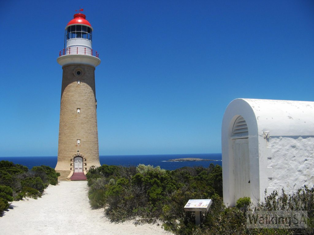 Cape du Couedic Lighthouse and the kersosene storage building