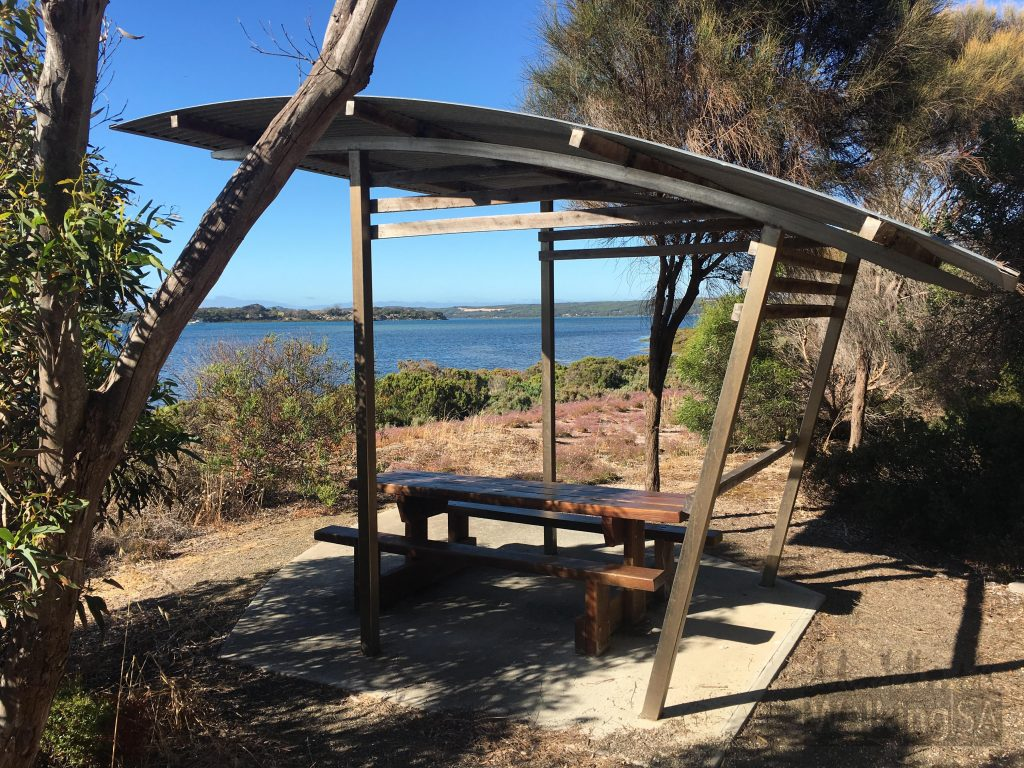 Picnic shelter on the Independence Trail near the boatramp