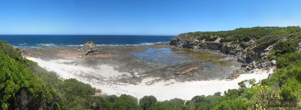 Tadpole Cove, the lookout on the Tadpole Cove Walk, Cape Gantheaume Conservation Park