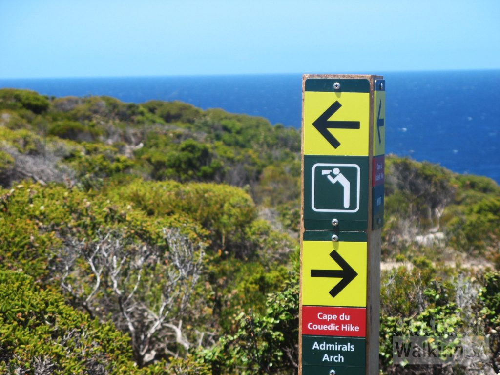 The Cape du Couedic Hike is well marked with signs
