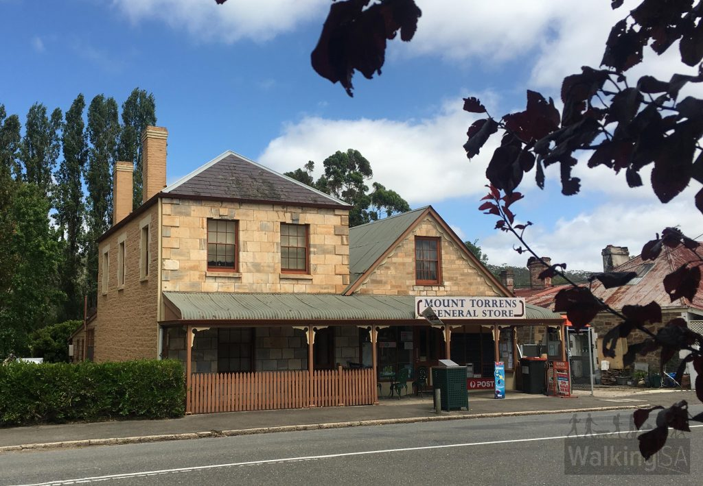The general store and post office was built in 1853 with the building on the right, which included cool storage. In 1865 a two storey house was added (left)