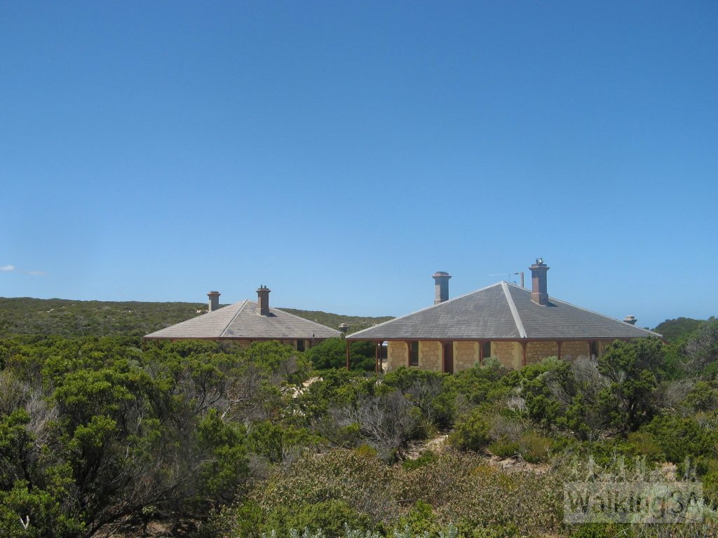 The three lighthouse keepers cottages at Cape du Couedic