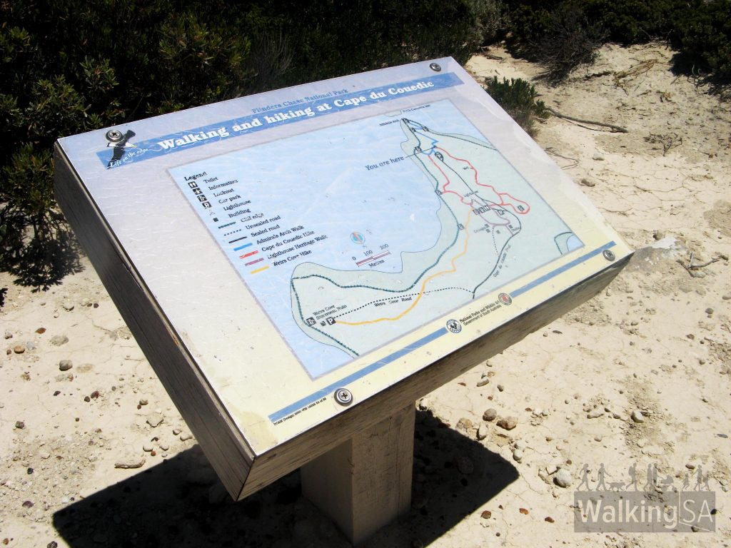 There is another trailhead sign at the lower carpark for the Cape du Couedic Hike