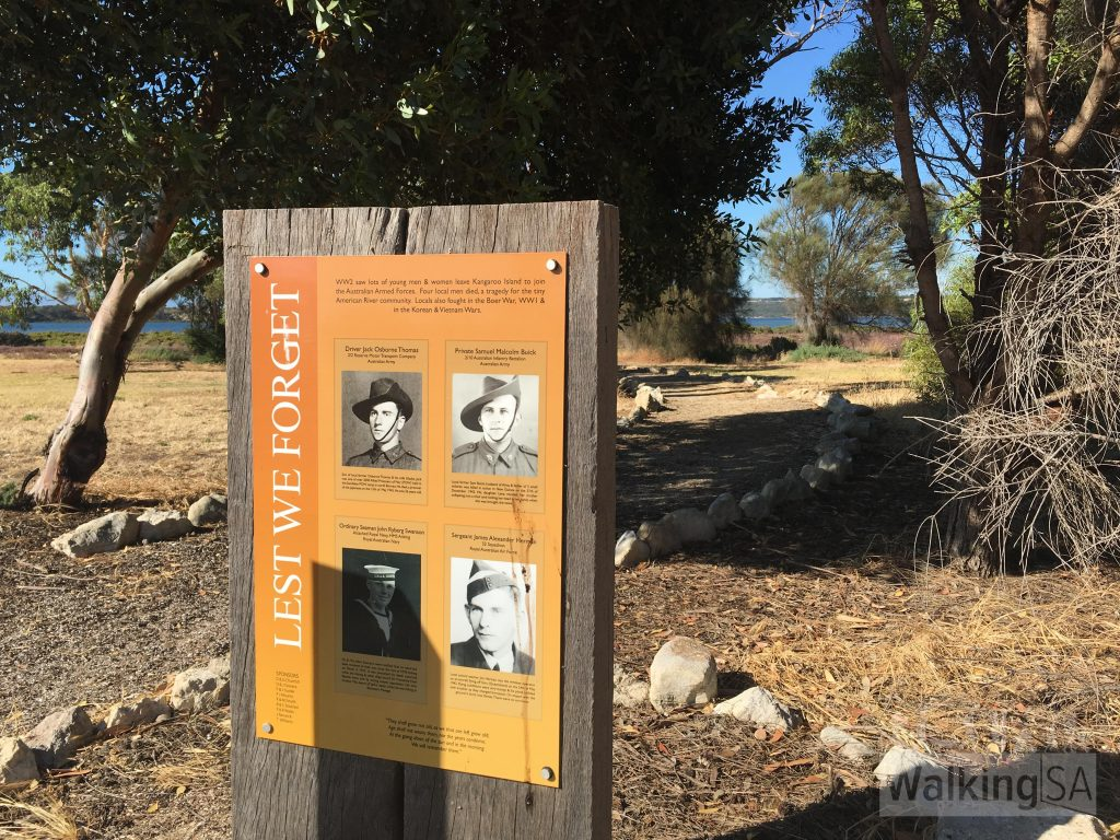 Trail signage in Remembrance Reserve
