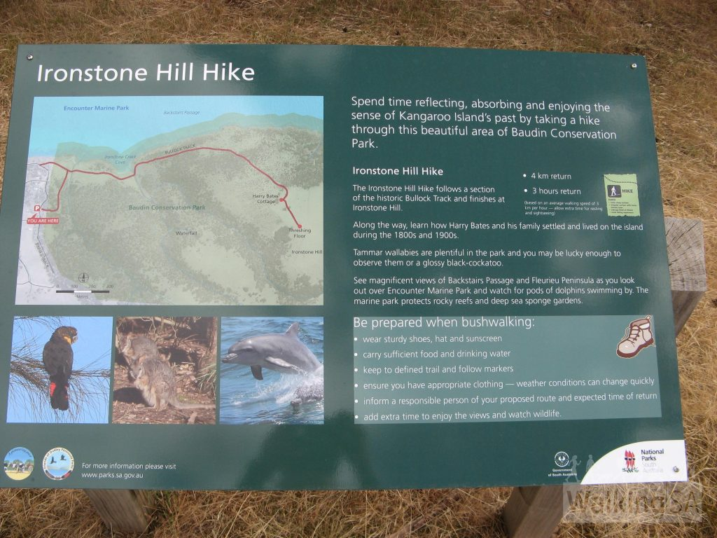 Trailhead sign for Ironstone Hill Hike