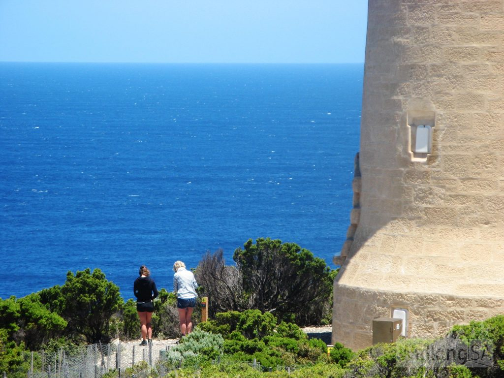 Walking past the Cape du Couedic Lighthouse