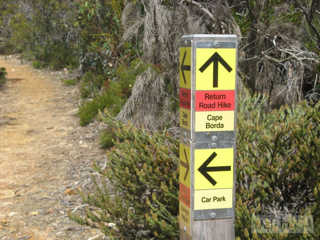 The Return Road Hike is well marked