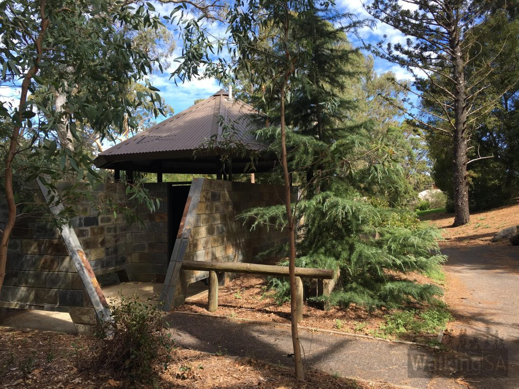 There are toilets and a drinking fountain in the Michael Perry Botanic Reserve