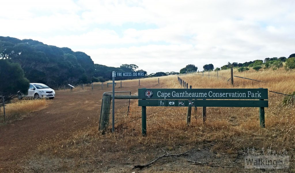 Western trailhead of the Curley Creek Hike on Seagers Road