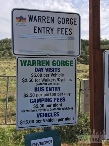 Entrance fees at the self registration station