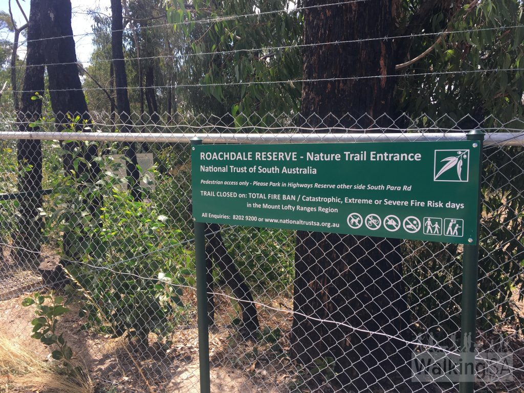 Signage at the Roachdale Reserve entrance