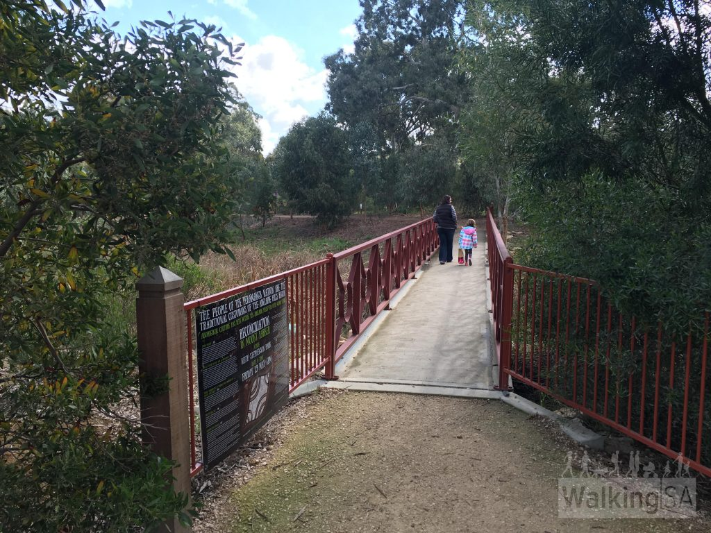 The trails at Laratinga Wetlands are suitable for walking, prams, dog-walking, cycling, and for those with accessibility issues