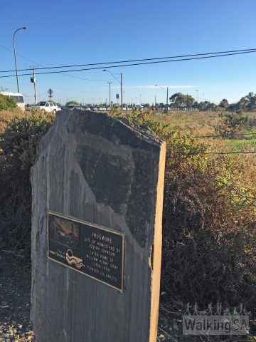 A plaque near Harbour Town recognises the site of Frogmore, a homestead of one of the pioneer colonists